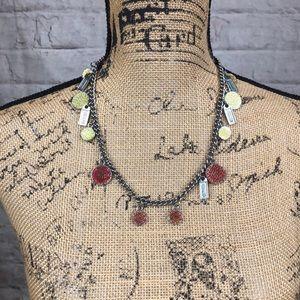 Vintage Coach Enamel 15 Charm Silver Tone Necklace